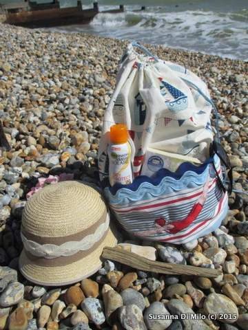 beach bag - hat and suncream