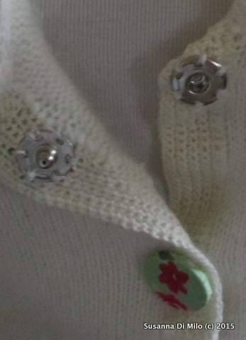 faux button and popper closures
