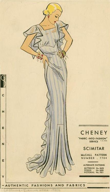 1930's dress pattern