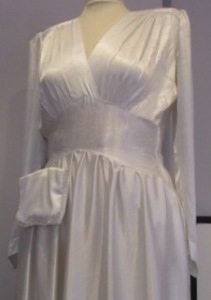 Bodice section 1940's wedding dress
